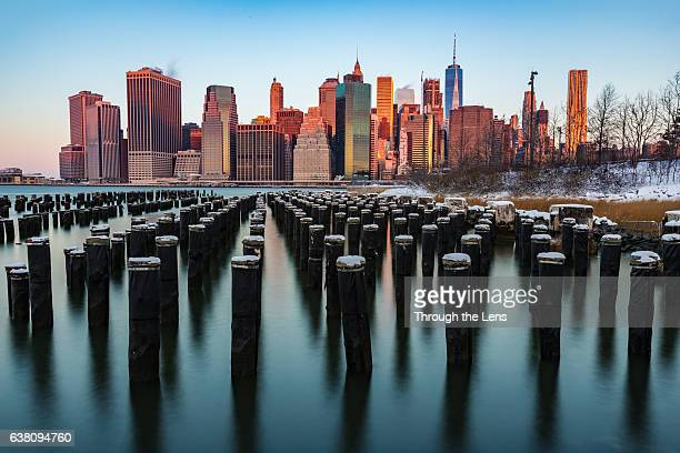 Brooklyn Bridge Park during Sunrise