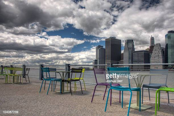 Brooklyn Bridge Park gets patio furniture I'll be back with my cup of espresso tomorrow morning