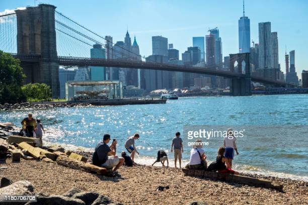 brooklyn bridge park - brooklyn bridge park stock-fotos und bilder