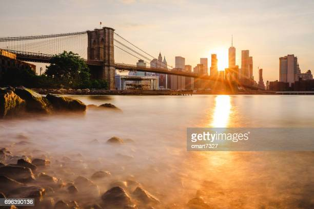 brooklyn bridge park - quayside stock photos and pictures