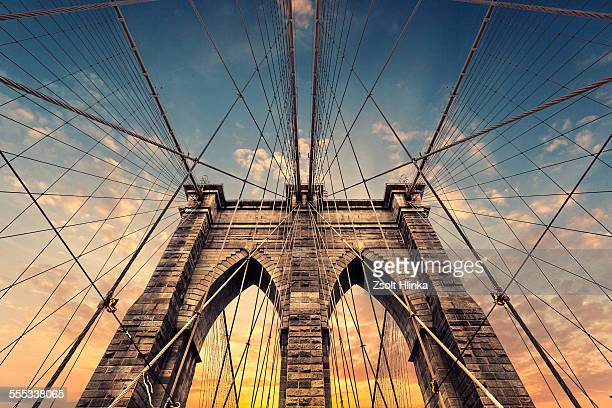 brooklyn bridge - brooklyn bridge stock pictures, royalty-free photos & images
