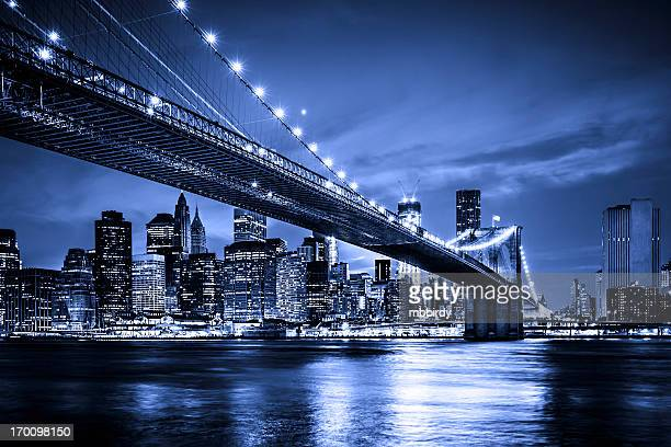 Pont de Brooklyn avec le centre-ville de Manhattan, New York City
