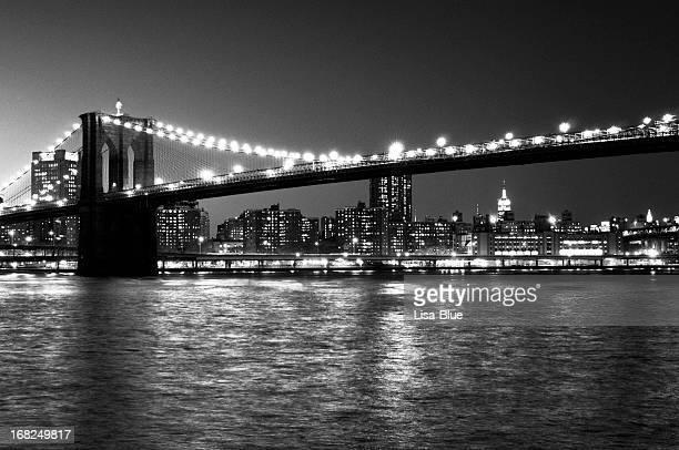 Brooklyn Bridge,NYC.Black And White.
