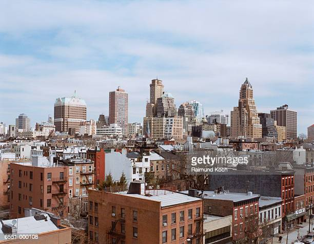 brooklyn cityscape - brooklyn new york stock-fotos und bilder