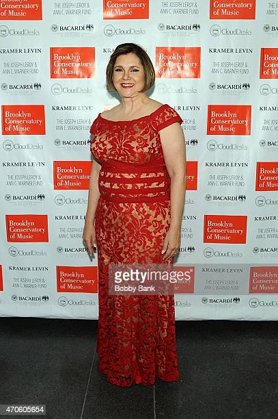 Brooklyn Conservatory Executive Director Karen Geer attends the Brooklyn Conservatory of Music's 2015 Spring Gala Music Moves at Brooklyn Museum on...