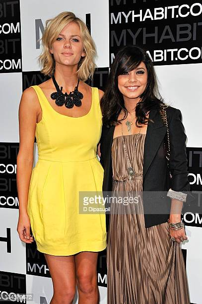 Brooklyn Decker and Vanessa Hudgens attend the launch of MYHABITcom at Skylight West on May 18 2011 in New York City
