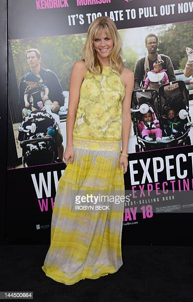 Brooklyn Decker arrives for the premiere of What To Expect When You Are Expecting May 14 2012 at Grauman's Chinese Theatre in Hollywood California...