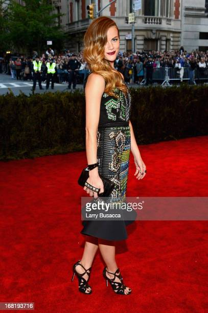 Brooklyn Decker attends the Costume Institute Gala for the PUNK Chaos to Couture exhibition at the Metropolitan Museum of Art on May 6 2013 in New...