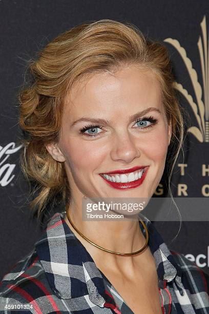 Brooklyn Decker attends The Grove's 12th annual Christmas tree lighting spectacular at The Grove on November 16 2014 in Los Angeles California