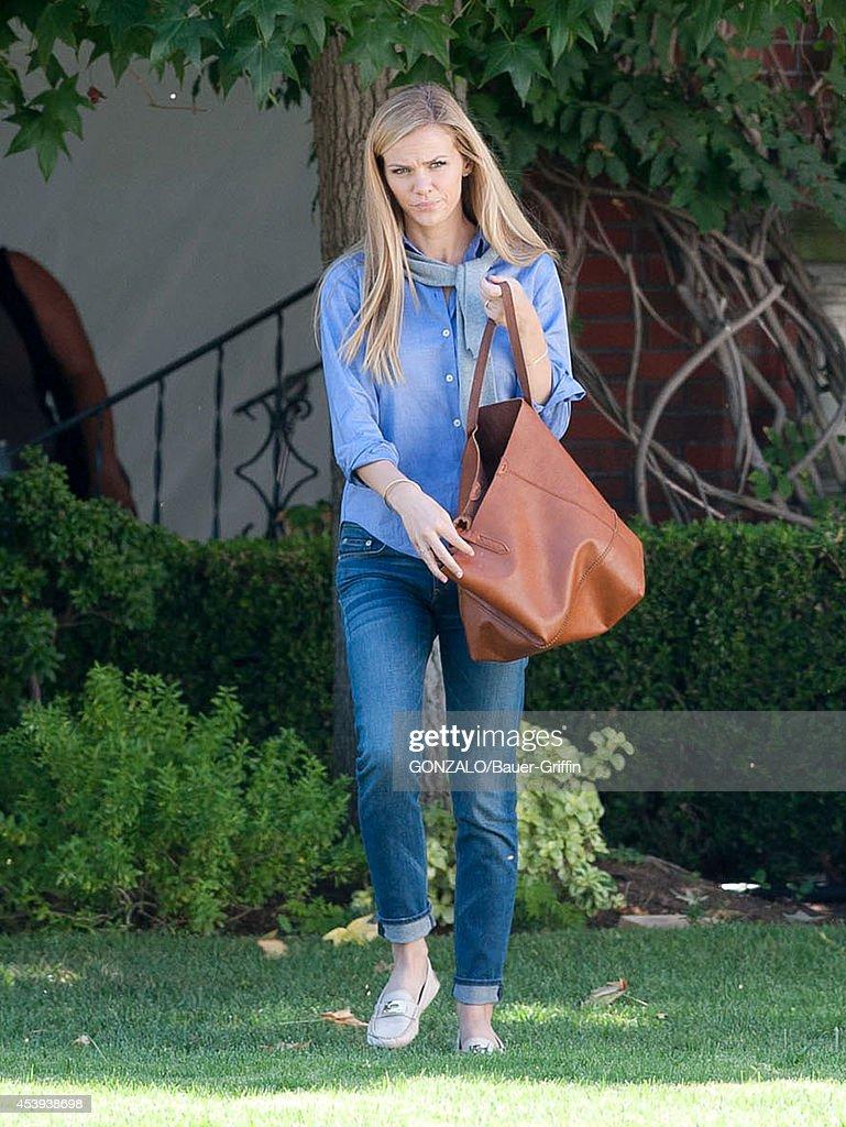 Brooklyn Decker is seen filming on August 21, 2014 in Los Angeles, California.