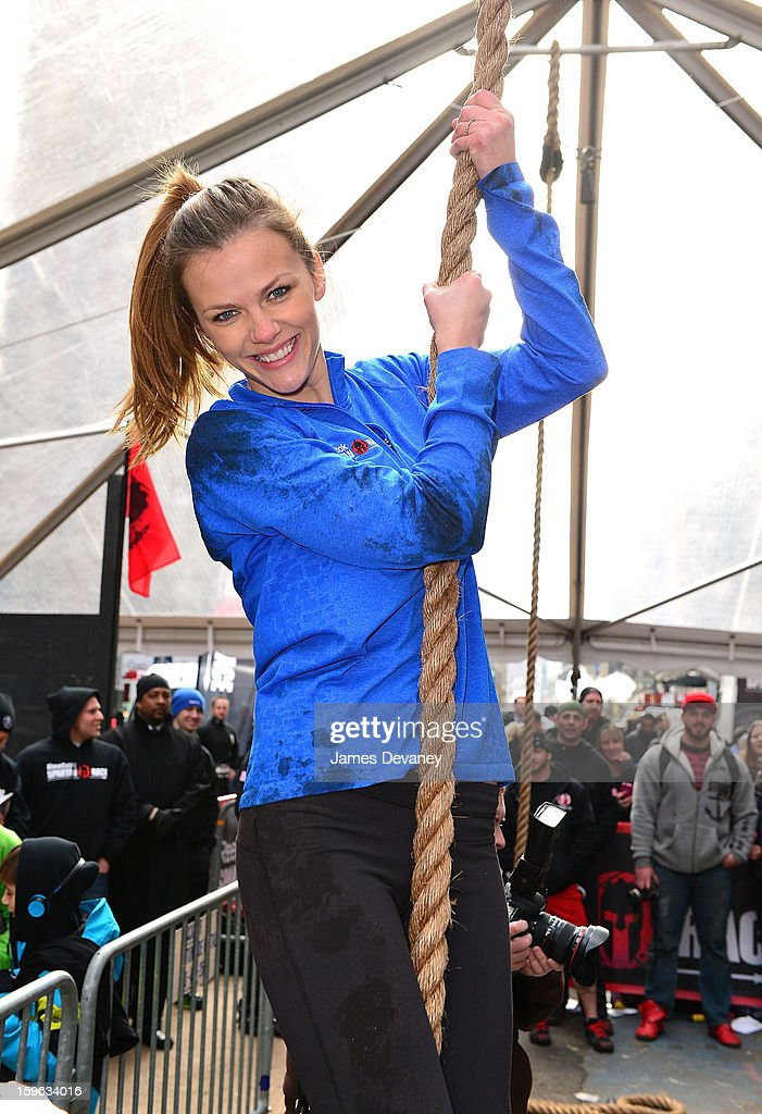 Brooklyn Decker tackles The Reebok Spartan Race Times Square Challenge in Times Square on January 17, 2013 in New York City.