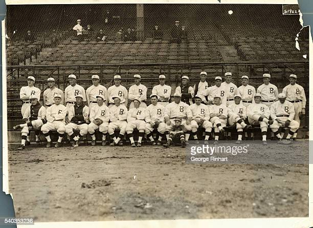 Brooklyn Dodgers standing left to right Walter Mails Mack Wheat Larry Choney Otto Miller Ivan Olsen Ira Colwell Ed Appleton Sherrod Smith William...