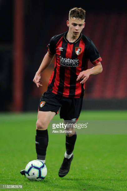 Brooklyn Genesini of AFC Bournemouth runs with the ball during the FA Youth Cup Sixth Round Match between AFC Bournemouth U18 and Manchester City U18...