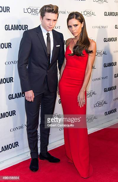 Brooklyn Joseph Beckham and mother fashion designer/singer Victoria Beckham attend Glamour's 25th Anniversary Women Of The Year Awards at Carnegie...