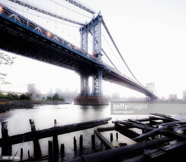 Brooklyn, Manhattan Bridge and Lower Manhattan