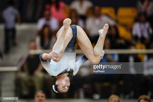 Brooklyn Moors of Canada during Floor for Women at the Aspire Dome in Doha Qatar Artistic FIG Gymnastics World Championships on 3 of November 2018