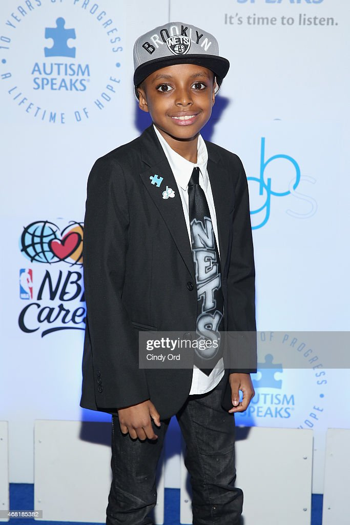 Brooklyn Nets Child Announcer, Prince Malachi attends the Autism Speaks Tip-off For A Cure 2015 on March 30, 2015 in New York City.