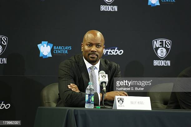 Brooklyn Nets General Manager Billy King speaks to reporters during a press conference at the Barclays Center on July 18 2013 in the Brooklyn borough...