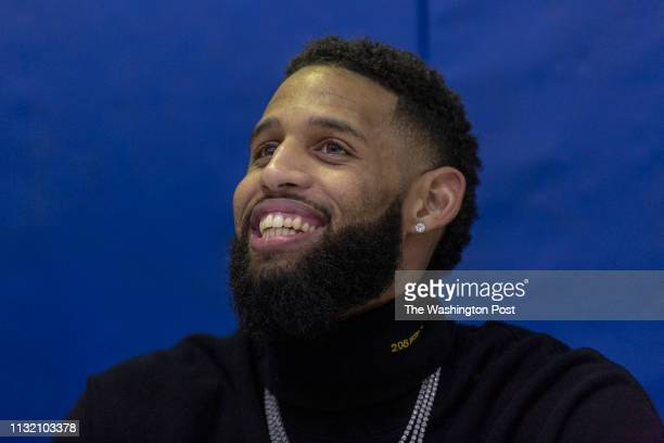 Brooklyn Nets guard Allen Crabbe is honored at a courtnaming ceremony at Crenshaw Christian Center on March 20 2019 after Crabbe made a sixfigure...