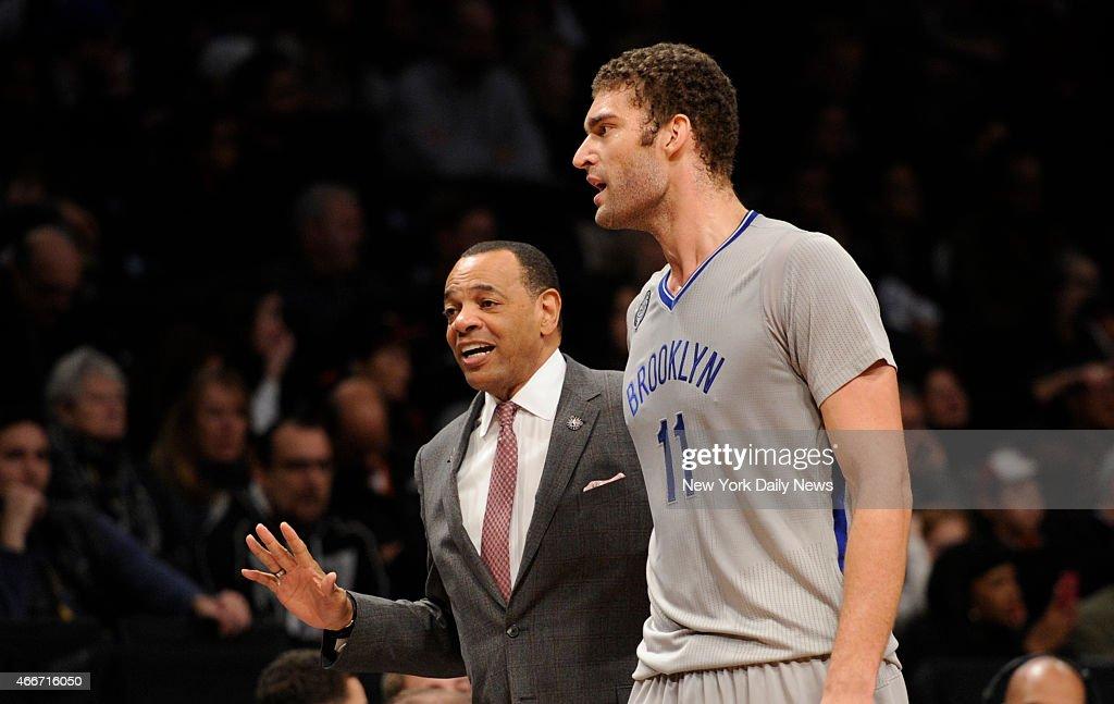 Brooklyn Nets head coach Lionel Hollins : News Photo