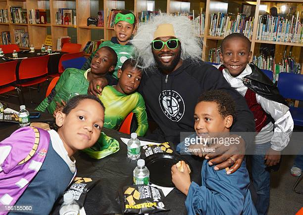 Brooklyn Nets' Reggie Evans hosts a Halloween Monster Mash for 50 kids at The Brooklyn Children's Museum on October 28 2013 in New York City