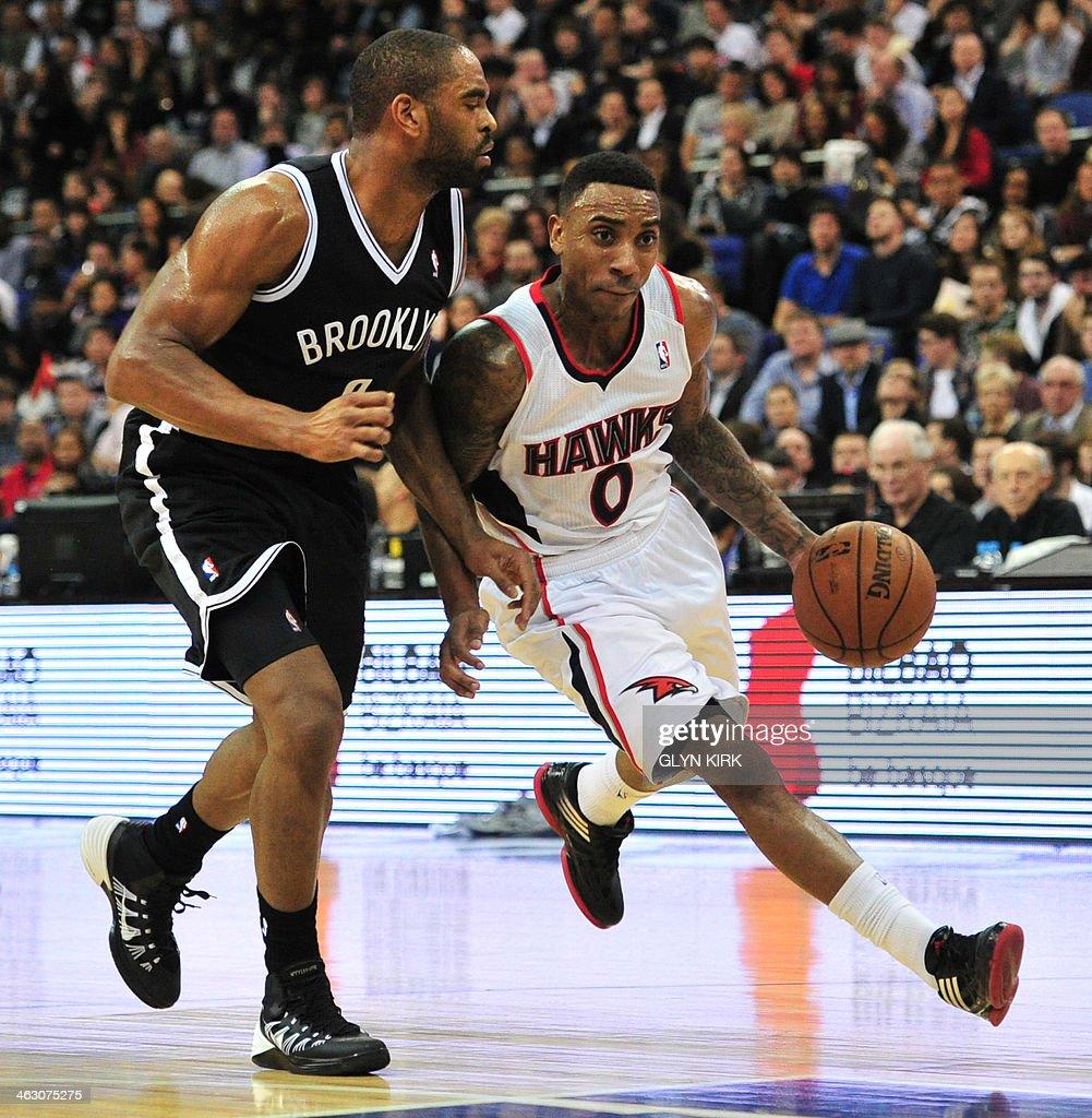 BASKET-GBR-USA-NBA-ATLANTA-BROOKLYN : News Photo