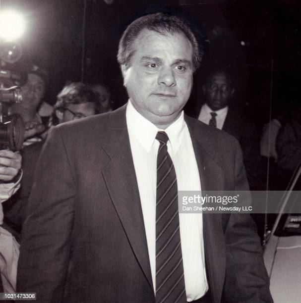 Gene Gotti leaves federal court after a jury finds him guilty on May 23 1989
