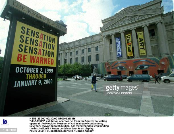 """Brooklyn, Ny """"Sensation"""" Exhibition Of Artworks From The Saatchi Collection Opens At The Brooklyn Museum Of Art In A Sea Of Controversy. New York..."""