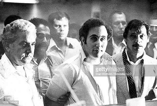 Son of Sam David Berkowitz stands before Criminal Court Judge Richard Brown at the Criminal Court building in Brooklyn NY to hear charges accusing...