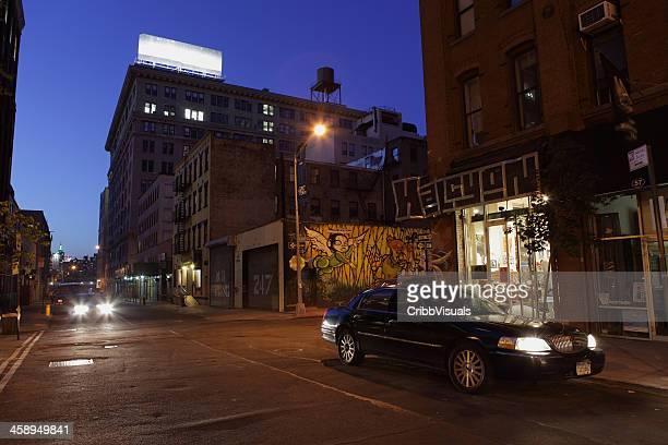 ダンボブルックリンニューヨークブラックのリムジン照明付きのご宿泊