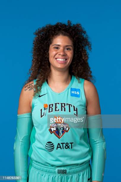 Amanda Zahui B of the New York Liberty pose for a head shot at WNBA media day at St Joseph's College on May 16, 2019 in Brooklyn, New York. NOTE TO...