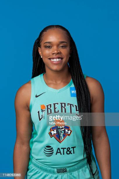Brittany Boyd of the New York Liberty pose for a head shot at WNBA media day at St Joseph's College on May 16, 2019 in Brooklyn, New York. NOTE TO...