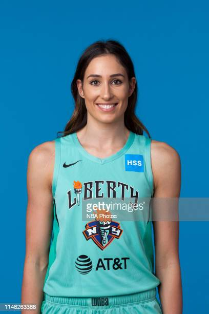 Rebecca Allen of the New York Liberty pose for a head shot at WNBA media day at St Joseph's College on May 16, 2019 in Brooklyn, New York. NOTE TO...