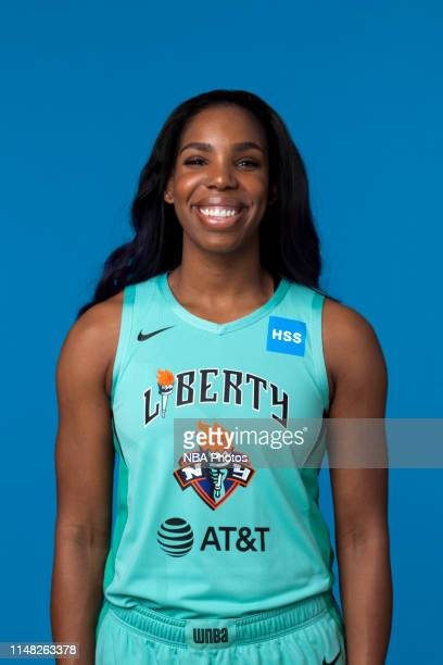 Reshanda Gray of the New York Liberty pose for a head shot at WNBA media day at St Joseph's College on May 16, 2019 in Brooklyn, New York. NOTE TO...