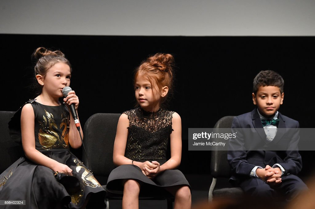 Brooklyn Prince,Valeria Cotto and Christopher Rivera,attend 55th New York Film Festival - 'The Florida Project' at Alice Tully Hall on October 1, 2017 in New York City.
