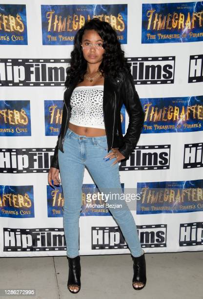 Brooklyn Queen arrives at The Artists Project Hosts Portraits For The Premiere of Timecrafters on November 17 2020 in Los Angeles California
