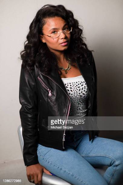 Brooklyn Queen poses for portrait at The Artists Project Hosts Portraits For The Premiere of Timecrafters on November 17 2020 in Los Angeles...