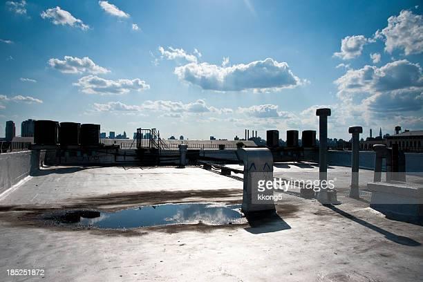 Brooklyn sur le toit avec vue sur les toits de Manhattan en arrière-plan
