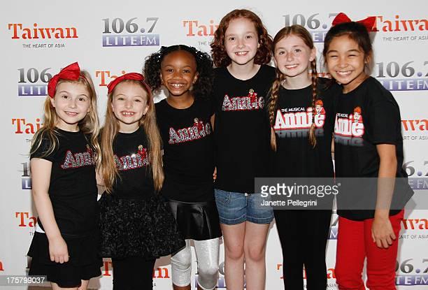 Brooklyn Shuck Emily Rosenfeld Tyrah Skye Odoms Taylor Richardson Gaby Bradbury and Amaya Braganza from the cast of Annie attend 1067 LITE FM's...