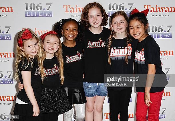 Brooklyn Shuck, Emily Rosenfeld, Tyrah Skye Odoms, Taylor Richardson, Gaby Bradbury and Amaya Braganza from the cast of 'Annie' attend 106.7 LITE...