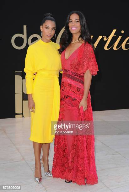 Brooklyn Sudano and Amanda Sudano arrive at the Panthere De Cartier Party In LA at Milk Studios on May 5 2017 in Los Angeles California