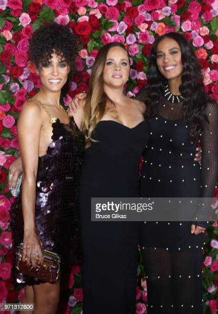 Brooklyn Sudano guest and Amanda Sudano attend the 72nd Annual Tony Awards at Radio City Music Hall on June 10 2018 in New York City