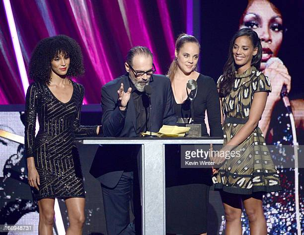 Brooklyn Sudano producer Bruce Sudano Mimi Dohler and Amanda Grace Sudano accept the award on behalf of Donna Summer onstage at the 28th Annual Rock...