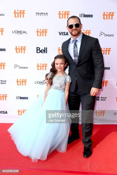 Brooklynn Prince and guest attend 'The Florida Project' premiere during the 2017 Toronto International Film Festival at Ryerson Theatre on September...
