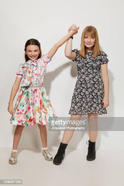 Brooklynn Prince and Hilde Lysiak of Apple TV's Home Before Dark pose for a portrait during the 2020 Winter TCA Portrait Studio at The Langham...