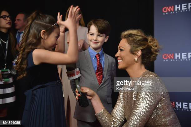 Brooklynn Prince and Ian Armitage speak with Brooke Baldwin at CNN Heroes 2017 at the American Museum of Natural History on December 17 2017 in New...
