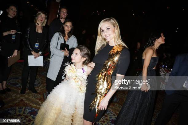 Brooklynn Prince and Reese Witherspoon attend the 2017 IFP Gotham Awards at Cipriani Wall Street on November 27 2017 in New York NY