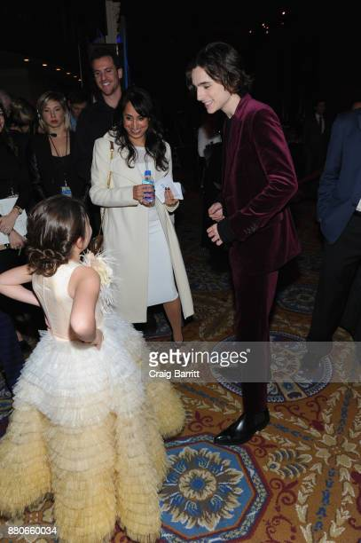 Brooklynn Prince and Timothée Chalamet attend The 2017 IFP Gotham Independent Film Awards cosponsored by FIJI Water at Cipriani Wall Street on...