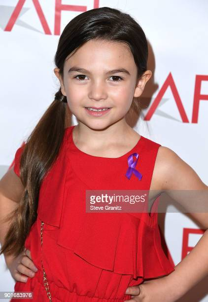 Brooklynn Prince arrives at the 18th Annual AFI Awards on January 5 2018 in Los Angeles California