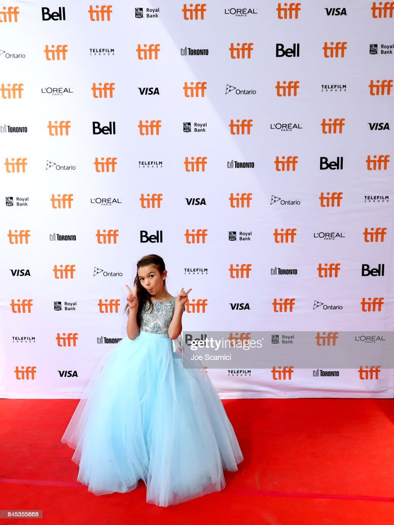 Brooklynn Prince attends 'The Florida Project' premiere during the 2017 Toronto International Film Festival at Ryerson Theatre on September 10, 2017 in Toronto, Canada.
